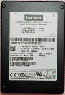 Samsung Lenovo 3.84tb 12gbps Sas 2.5 Ssd Pm1633a Mz-ils3t8n