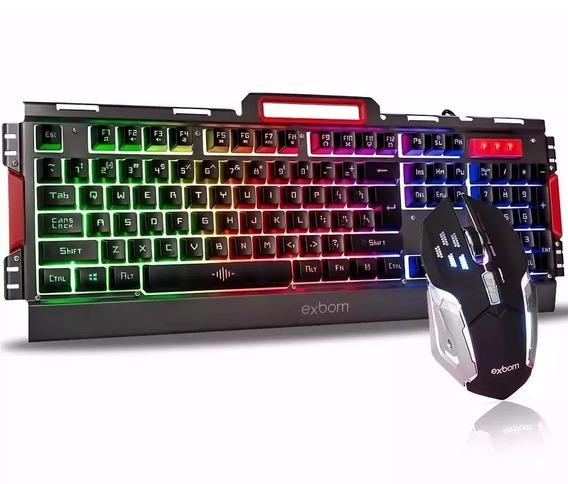 Kit Gamer Iluminação Led E Acabamento De Metal Exbom G3000