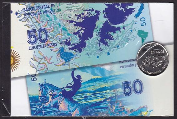 Blister Bcra Tarjeta Y Medalla De Malvinas 30 Años 1982-2012