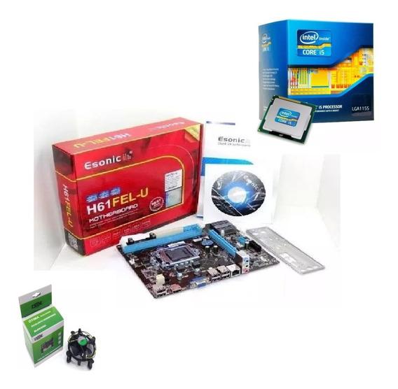 Kit Placa H61 1155 Nova + Processador I5 3570 + Cpu Cooler