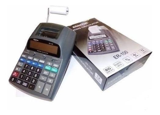Calculadora Impresora Exactus Er-100 / 12 Digitos