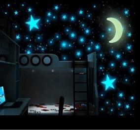 Estrela Adesiva Teto Parede Casa Quarto Brilha Escuro 100pc