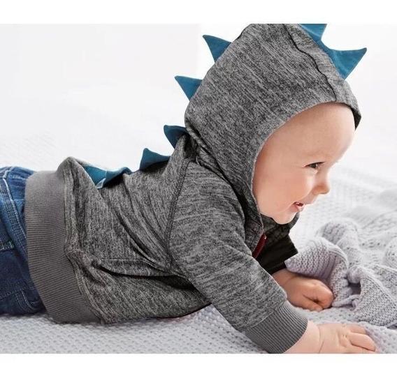 Roupas De Bebe Menino Blusa Moletom (moletinho) Dinossauro