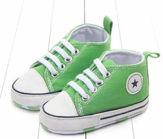 Zapatillas Bebe Tipo All Star 0-3 Meses Varios Colores