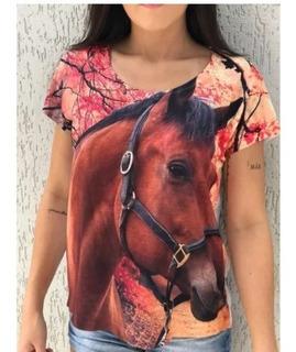 10 Camisetas Estampa C/ Cavalos Escolha Pelo N/ Da Foto.