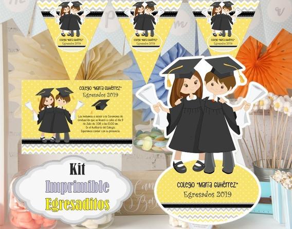 Kit Imprimible Diplomas Candy Egresados Kdkt0193