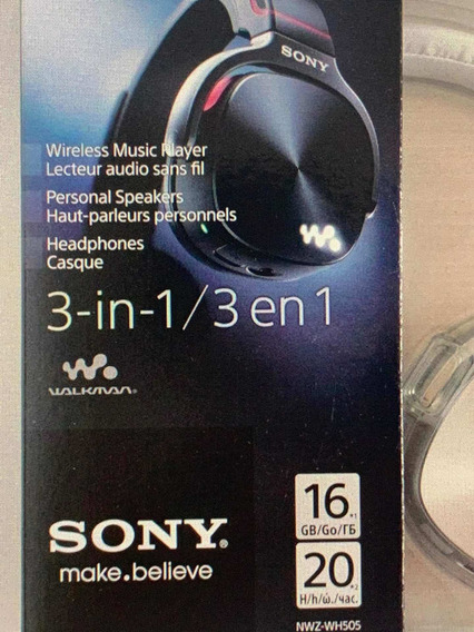 Sony Nwz-wh505 3 Em 1 Walkman Fone De Ouvido Mp3 Player 16gb
