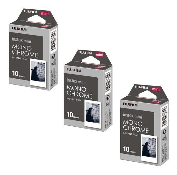 Filme Papel Fujifilm Instax Mini Monochrome - Com 30 Fotos