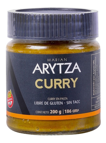 Curry Suave Gourmet Arytza 100% Natural Y Saludable Sin Tacc