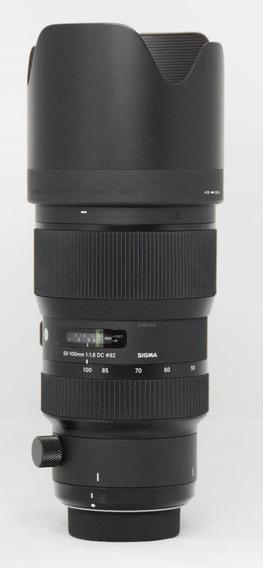 Lente Sigma 50-100 Mm 1.8 Dc Art Nikon Dx Nítida Impecável