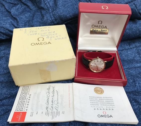 Relógio Omega Ouro Maciço De Ville Sem Uso - Nunca Vi Igual!