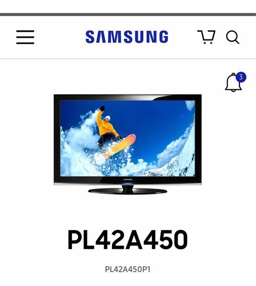 Tv Plasma 42 Samsung - Veja Descrição