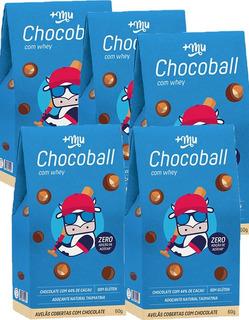 5x Chocoball Com Whey Mais Mu 60gr Cada - +mu