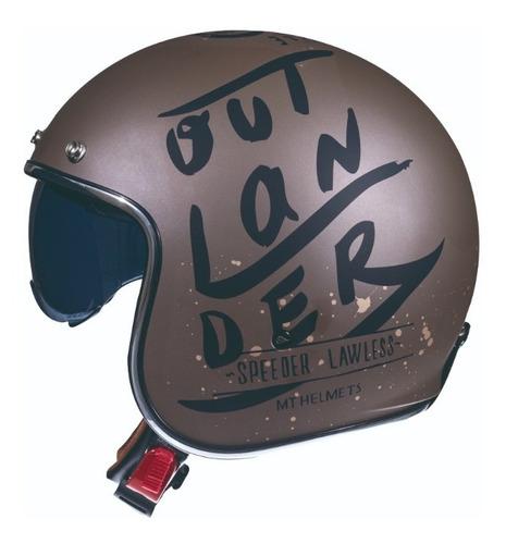 Casco Abierto Para Moto / Mt Helmets Le Mans Sv Outlander