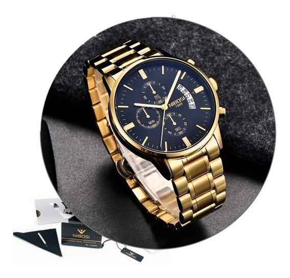 Relógio Nibosi 2309 Luxo Original / Barato