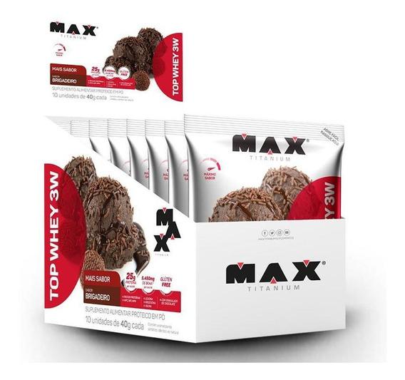 Top Whey 3w Mais Sabor (10unid-40g) Max Titanium