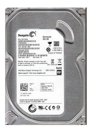 Hd 500gb Sata Pc Dvr Seagate/sansumg /wd 7200 Rpm- Garantia