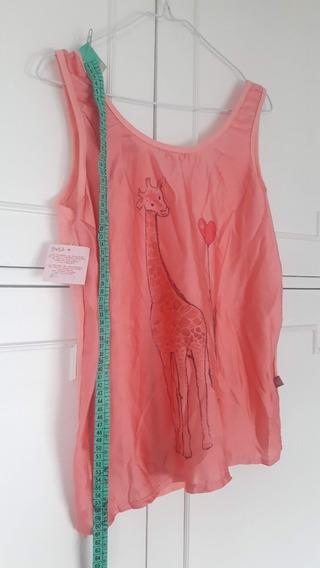 Remera Blusa Musculosa Mujer Con Estampa Jirafa Large
