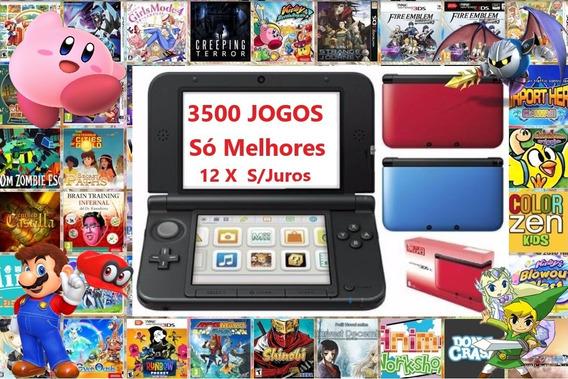 Nintendo 3ds Xl + 3500 Jogos + 32gb + Emuladores +brindes