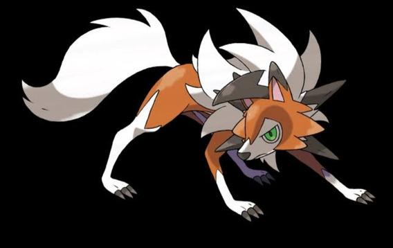 Pokemon Us/ul Lycanroc Crepuscular Con Ataques Especiales