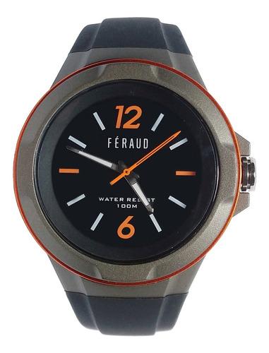 Reloj Feraud F100m5-03 Hombre Sumergible 100m Silicona