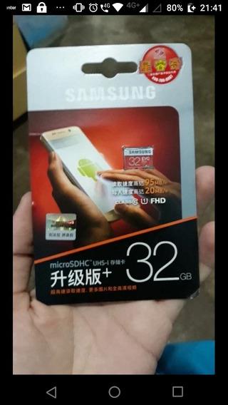 Samsung Evo Micro Sd 32g Sdhc 80 Mb/s Grau Class10 Cartão