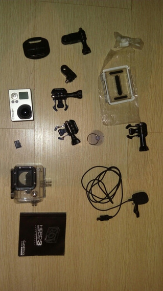 Camera Gopro Hero 3 Com Acessórios