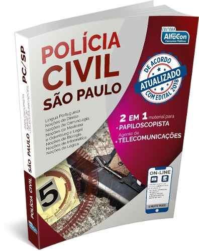 Pc/sp - Agente De Polícia E Auxiliar De Papiloscopista