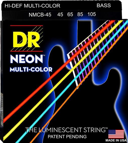 Encordoamento Baixo 4c Dr Strings Neon Multicolor 45-105