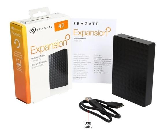 Hd Externo Seagate Expansion 4tb Usb 3.0 Black Desktop