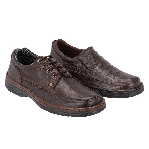 Sapato Masculino Kit 2 Pares Galway Casual Couro 2020c-2021c