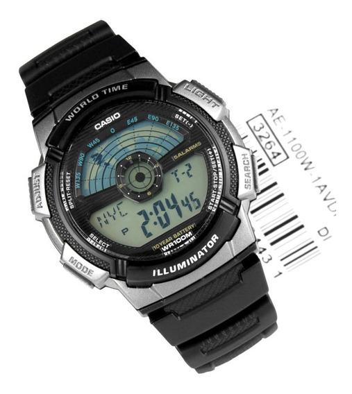 Relógio Masculino Casio Ae-1100w-1avdf Digital Com Horário