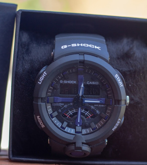 Relógio G-shock A-500 Azul Novo Com Caixa Linda