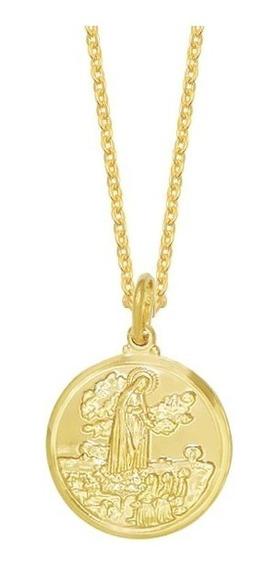 Cordão Feminino Religioso Medalha De Nossa Senhora De Fátima