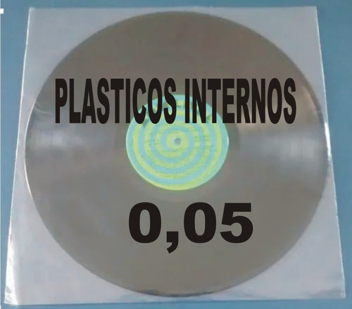 Imagem 1 de 9 de 100 Plásticos Internos 0,06 Disco Vinil Lp Sacos Lp