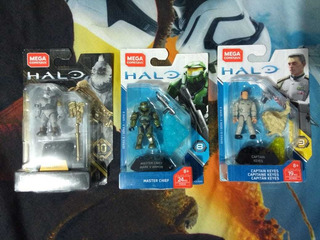 Tartarus, Masterchief, Capitan Keyes Halo Mega Construx