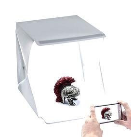Mini Estúdio Fotográfico Luz 40x40cm C/ Fita Led Dupla +nota