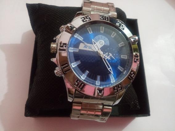 4 Relógios Masculinos Cor Prata