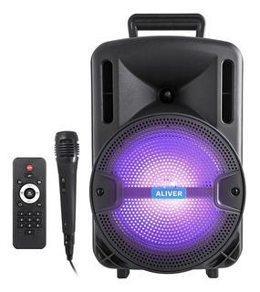 Parlante Portatil Bluetooth Karaoke Recargable Fm+ Microfono