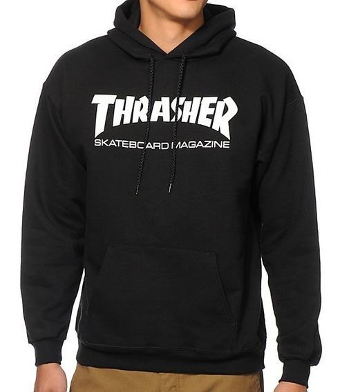 Moletom Thrasher - Capuz Skate Mag Preto