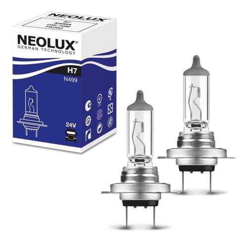 Par Lâmpada Halógena Neolux Standard H7 3200k 70w 24v Farol