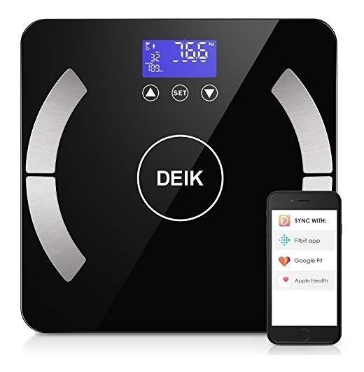 Deik Bluetooth Body Fat Scale Smart Bmi Bathroom Scale Wit