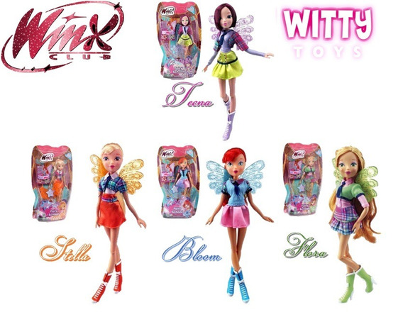 Kit 4 Bonecas Winx Club Fairy School Winx Bloom Winx Bar