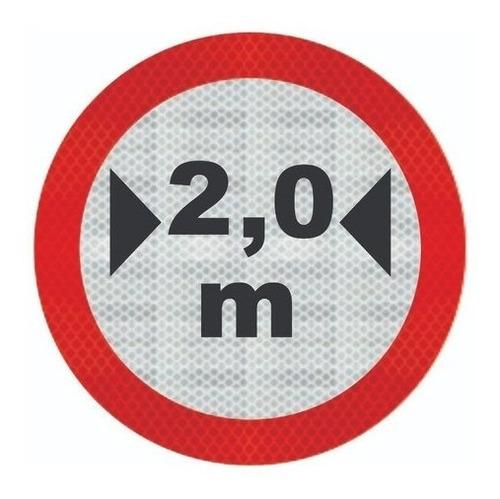 Imagem 1 de 3 de Placa De Trânsito R-16 Largura Máxima Ti