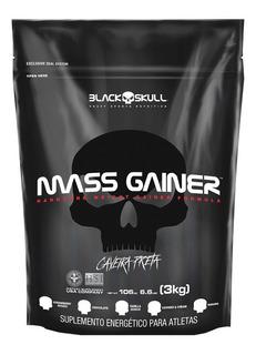 Hipercalorico Mass Gainer - 3kg - Caveira Preta Black Skull