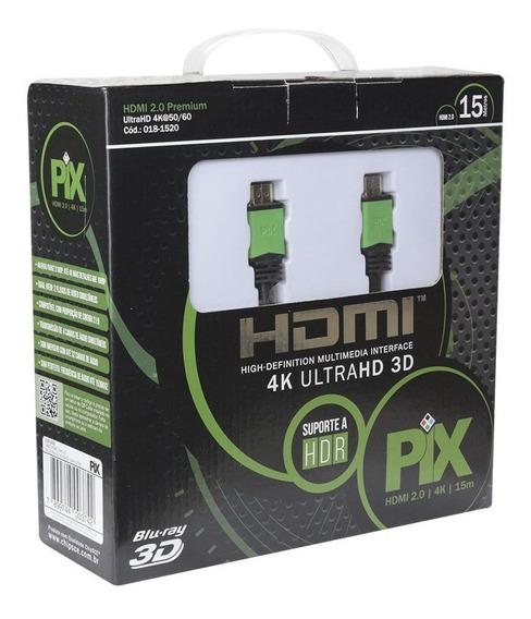 Cabo Hdmi 2.0 4k Ultra Hd 3d 19 Pinos 15 Metros 018-1520