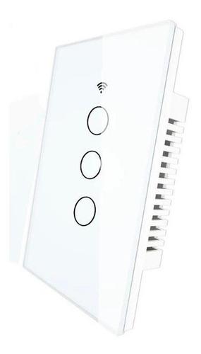 Switch Interruptor Wifi Inteligente Sin Cable Neutro 3 Gang