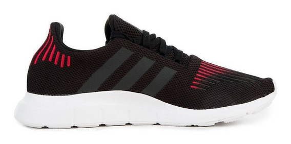 Zapatillas adidas Swift Run M Negra/rojo - Corner Deportes