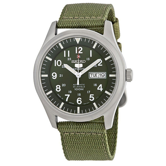 Relógio Seiko Estilo Militar Automático Snzg09j1 Japan