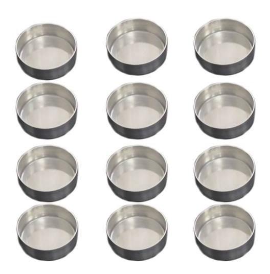 Forminha Pão De Mel Nº 2 Kit 24 Unidades Aluminio (padrão)